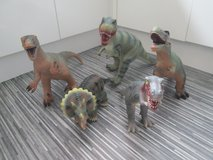 5 LARGE SOFT RUBBER DINOSAURS in Lakenheath, UK