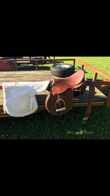 English saddle in Fort Polk, Louisiana