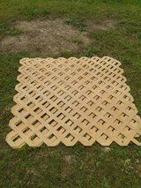 Three sheets of lattice in Fort Leonard Wood, Missouri