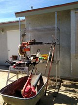 4'x7' Stainless steel Shelve with 4 adjustable shelf unit, Tradesman Chop Saw, Leaf blower, Chai... in 29 Palms, California