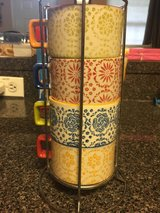 4 cups with holder tower - Pier 1 imports in Batavia, Illinois