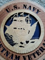 U.S. Navy Wood Plaque in Camp Lejeune, North Carolina