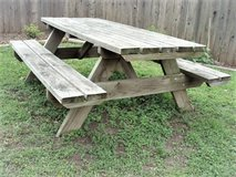 Picnic Table and Food Prep  / Serving Stand in Lackland AFB, Texas
