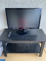 """Samsung TV Model # SyncMaster T27A300 26"""" x 16"""", TV Remote Control, TV Stand in Camp Pendleton, California"""