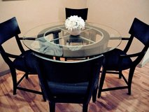 Glass Dining Table With 4 Chairs in Spring, Texas