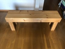 Natural wood bench - great for plants in Okinawa, Japan