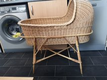 vintage wicker and bamboo crib in Lakenheath, UK