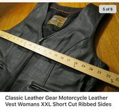LEATHER MOTORCYCLE VEST XXL(Lg) in Okinawa, Japan