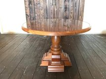 Solid Wood Glass Top Round Table in Okinawa, Japan