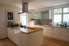 Modern flat with fire place, garage, yard close to trainstation in Wiesbaden in Wiesbaden, GE
