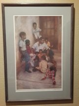 "Brenda Joysmith ""IN OUR CORNER"" Framed Lithograph in Beale AFB, California"