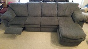 Sofa / Couch sectional  with recliner and chaise in Aurora, Illinois