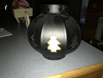 Black metal Lantern with light in Fort Leonard Wood, Missouri