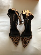 Leopard pointed toe heels strappy brand new with tags in Okinawa, Japan