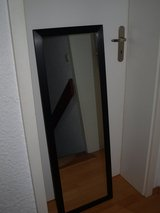 Full Body Mirror with Hooks (Ready to Hang):115x40cm.Black Metal Frame (Like NEW). in Wiesbaden, GE