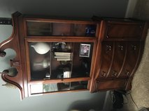 Cherry wood solid hutch in Bolingbrook, Illinois