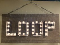 "Hand made Light Bulb Sign ""LOOP"" in Naperville, Illinois"