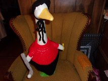 Golfer Geese Goose Outfit Crochet Lawn Geese Clothes Garden Statue Decor in Belleville, Illinois