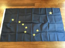 """Alaska State Flag 3' x 5""""  made by Annin and Co. in Kingwood, Texas"""