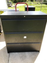 Black 3Drawer Filing Cabinet 36 x 19 x 42 with Lock & 2 Keys in Fort Knox, Kentucky