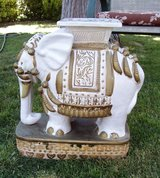 Large Ceramic Elephant with Gold Trim in Alamogordo, New Mexico