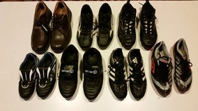 Lot of Boys Soccer cleats, Baseball cleats and Dress Shoes in Yorkville, Illinois