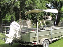 2000 SeaArk Aluminum boat, 18 ft long x 6ft wide. 2009 Evinrude E-TEC 90 HP. 2012 Evinrude Elect... in Baytown, Texas