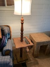 Oak Floor Lamp w/End Table & Magazine Slot in 29 Palms, California