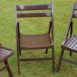 3 Wooden Folding Chairs in Wiesbaden, GE