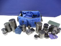 Olympus Camera with Accessories, Lenses, Bag in Pearland, Texas