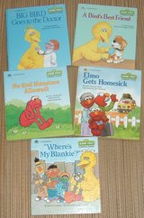 Lot of (5) RARE Vintage 80's 90's Sesame Street A Growing-Up Book A Golden Book Hard Cover in Yorkville, Illinois
