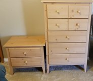 5 drawer dresser and matching nightstand in Naperville, Illinois