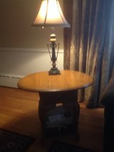 Pr. Of Oak Side Tables/Lamps in Aurora, Illinois