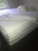 King Size Bed, Great condition. Mattress and Box Spring in Aurora, Illinois
