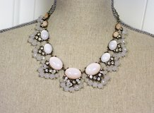 "White Ivory Beige 18"" Chunky Bead Gem Stone Strand Necklace Statement Chain in Kingwood, Texas"