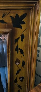 Large Antique Mirror with Hand-painted Frame in Bolling AFB, DC