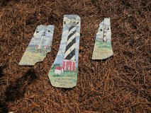3 hand painted NC lighthouse`s on slate in Cherry Point, North Carolina