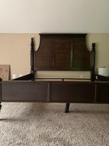 king sized bed frame with detachable canopy in Fort Campbell, Kentucky