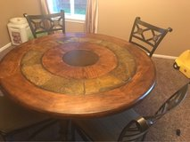 wood and stone table in Naperville, Illinois