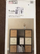 Brand new in box  9 Cube Shelf Color black ebony ash in Yucca Valley, California