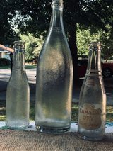 lot of three clear vintage textured Canada Dry glass bottles in Byron, Georgia