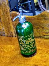 RARE antique emerald green seltzer bottle in Cherry Point, North Carolina