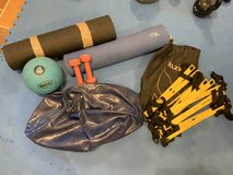Fitness lot- yoga mats, agility ladder, exercise ball,weights in Stuttgart, GE