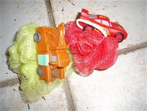 Lightning McQueen and Mater bath loofah NEW in Stuttgart, GE