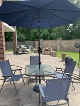Patio Table & 4 chairs, also have an umbrella in Kingwood, Texas