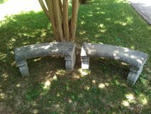Concrete benches in Fort Campbell, Kentucky