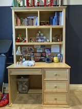 Solid Birch Desk and Hutch (Twin Bunk Bed and Dressers Also Available) in Kingwood, Texas