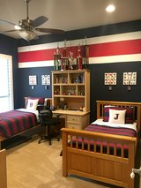 2 Pottery Barn Teen Rugby Stripe Quilts with Matching Shams in Kingwood, Texas