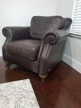Natural leather club chair in Fort Hood, Texas