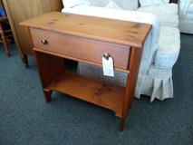 Small Wood Side Table with Drawer and Shelf in Bartlett, Illinois